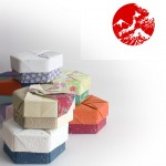 Decorative Hexagonal Origami Gift Boxs with Lids